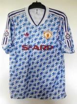 1990-1992 Manchester United (Football League) Adidas Football Shirt (Adult Large)