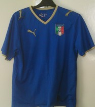 2007-2008 Italy Official Puma Football Shirt (Youths 12-13 Years)