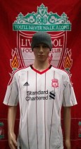 2010-2011 Liverpool Official Adidas Away Football Shirt (Youths 10-11 Years)