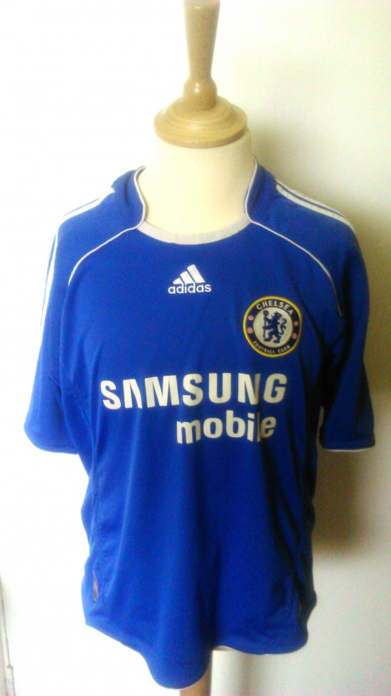 sports shoes 0832f e481b 2006-2008 Chelsea Official Adidas Football Shirt (Youths 9-10 Years)