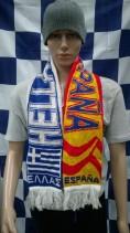 Greece vs Spain International Football Match Day Scarf (Scarves)