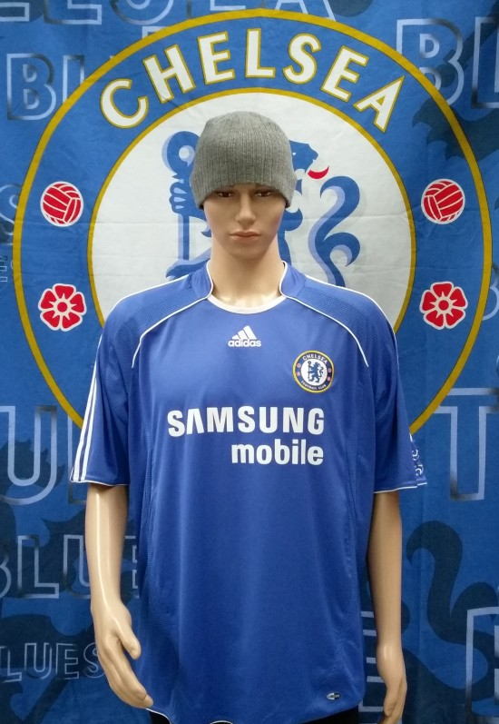 finest selection 0f573 aa94f 2006-2008 Chelsea Official Adidas Football Shirt (Adult Small)