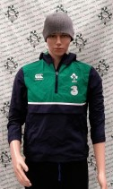 Ireland Official CNZ Rugby Union Half Zip Jacket (Youths 12 Years)