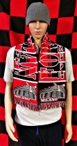 A.C. Milan (Forza Milan) Football Club Scarf (Scarves)