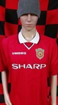 1997-1999 Manchester United (Champions League) Umbro Football Shirt (Adult XL)