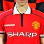 1998-2000 Manchester United (Solskjaer Signed) Umbro Football Shirt (Youths 12-13 Years)